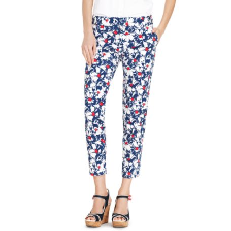 Image for FLORAL PRINTED CROP PANT from Tommy Hilfiger USA
