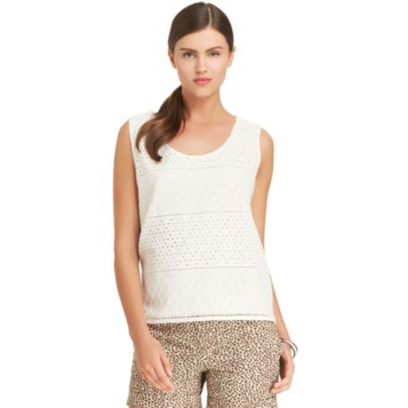 Image for EYELET TANK TOP from Tommy Hilfiger USA