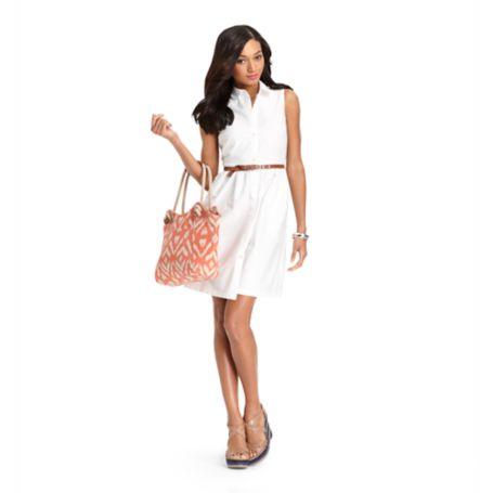 Image for SLEEVELESS SHIRTDRESS from Tommy Hilfiger USA