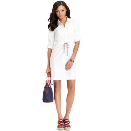 Image for DRAWSTRING SHIRTDRESS from Tommy Hilfiger USA