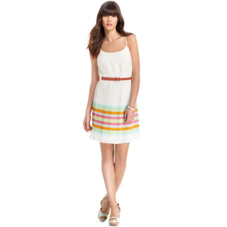Image for PRINTED PLEATED DRESS from Tommy Hilfiger USA