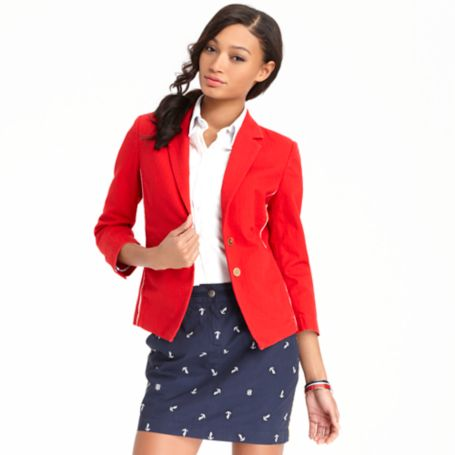 Image for TWO BUTTON PLEATED BLAZER from Tommy Hilfiger USA
