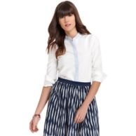 CONTRAST PLACKET BUTTON FRONT SHIRT $78.00