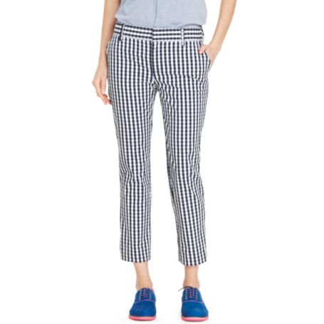 Image for GINGHAM CROP PANT from Tommy Hilfiger USA
