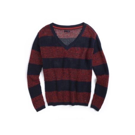 Image for MARLED STRIPE V-NECK SWEATER from Tommy Hilfiger USA