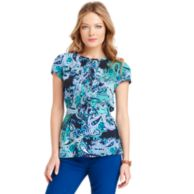 PRINTED PAISLEY TOP $54.00