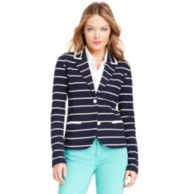 KNIT STRIPE BLAZER $118.00