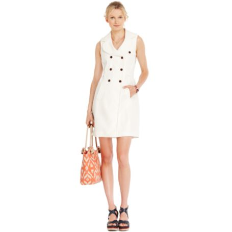 Image for LINEN BELTED DRESS from Tommy Hilfiger USA