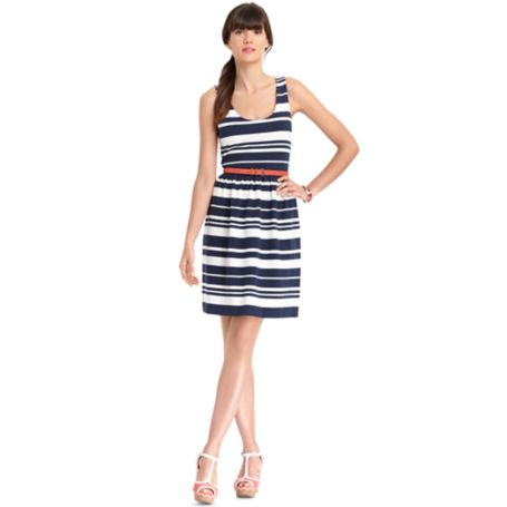Image for STRIPE PONTE DRESS from Tommy Hilfiger USA