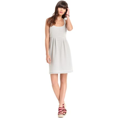 Image for SCOOP NECK FLARE DRESS from Tommy Hilfiger USA