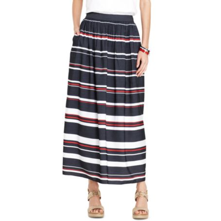 Image for STRIPED MAXI SKIRT from Tommy Hilfiger USA