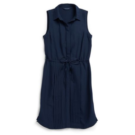 Image for SLEEVELESS SOLID SHIRT DRESS from Tommy Hilfiger USA