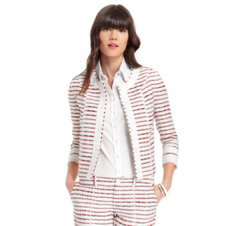 TWO BUTTON PLEATED BLAZER