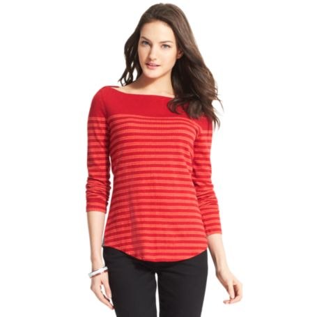 Image for STRIPED KNIT TOP from Tommy Hilfiger USA