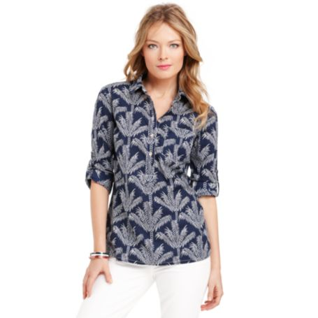 Image for PALM TREE PRINT TUNIC from Tommy Hilfiger USA