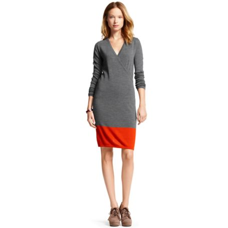 Image for COLORBLOCK SWEATER WRAP DRESS from Tommy Hilfiger USA