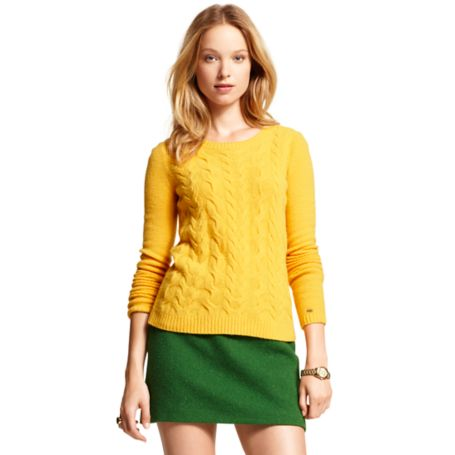 Image for CABLE CREW NECK SWEATER from Tommy Hilfiger USA