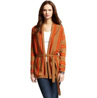OPEN KNIT STRIPE CARDIGAN WRAP $129.99