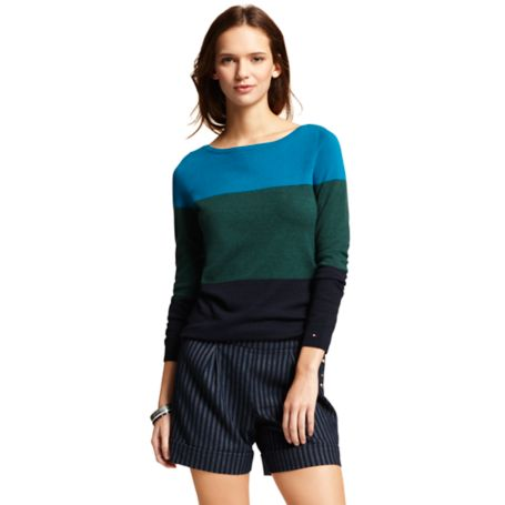 Image for COLORBLOCK MULTI STRIPE SWEATER from Tommy Hilfiger USA