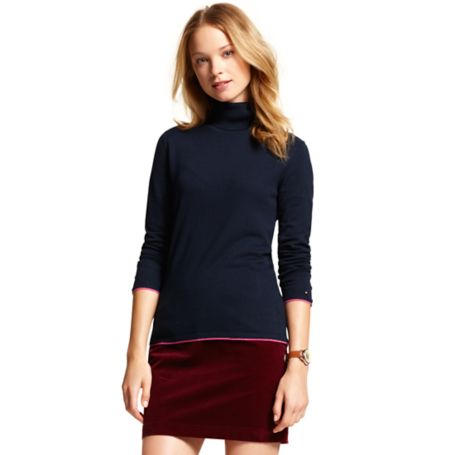Image for ROLL NECK SOLID SWEATER from Tommy Hilfiger USA