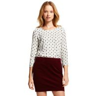FOULARD DIAMOND 3/4 SLEEVE CREW NECK BLOUSE $59.99
