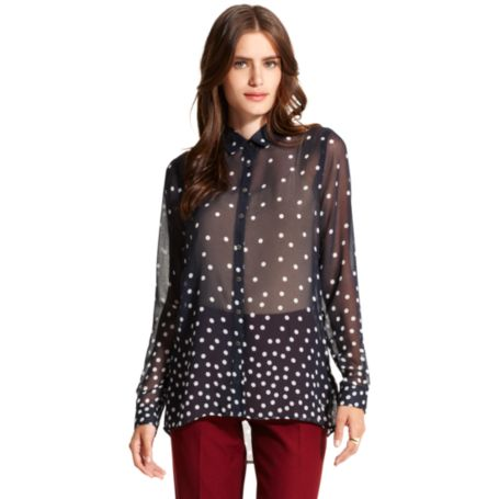 Image for POLKA DOT SHEER BLOUSE from Tommy Hilfiger USA