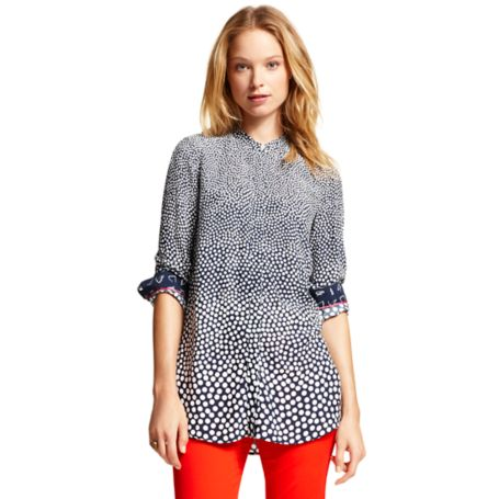 Image for GRADIENT POLKA DOT LONG SLEEVE BLOUSE from Tommy Hilfiger USA