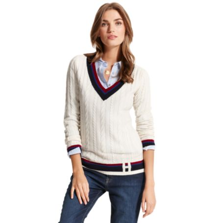 Image for H DEEP V-NECK SWEATER from Tommy Hilfiger USA