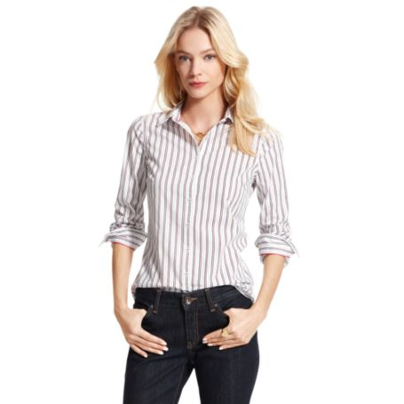 Image for STRIPE DOT PRINT STRUCTURED SHIRT from Tommy Hilfiger USA