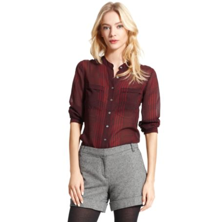Image for HOUNDSTOOTH CHECK BLOUSE from Tommy Hilfiger USA