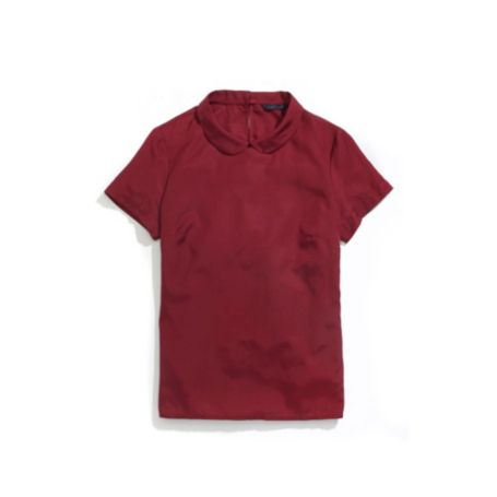 Image for PETER PAN COLLAR WOVEN T-SHIRT from Tommy Hilfiger USA