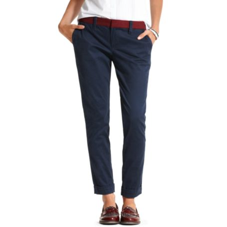 Image for CROPPED TWILL TROUSER from Tommy Hilfiger USA