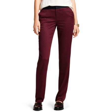 Image for LATTICE FOULARD DRAPEY PANT from Tommy Hilfiger USA