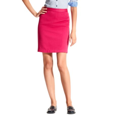 Image for ZIP BACK SOLID PENCIL SKIRT from Tommy Hilfiger USA