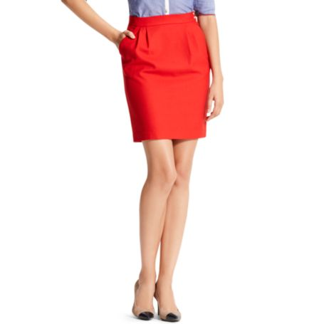 Image for SOLID TROUSER PENCIL SKIRT from Tommy Hilfiger USA