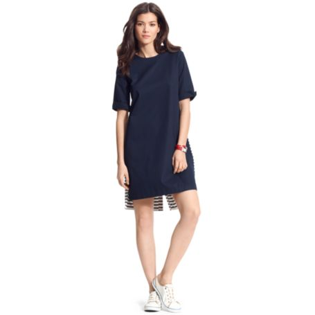 Image for JERSEY BUTTONBACK SHIFT DRESS from Tommy Hilfiger USA