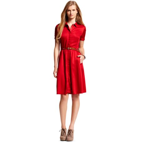 Image for FLARE HALF PLACKET SOLID DRESS from Tommy Hilfiger USA
