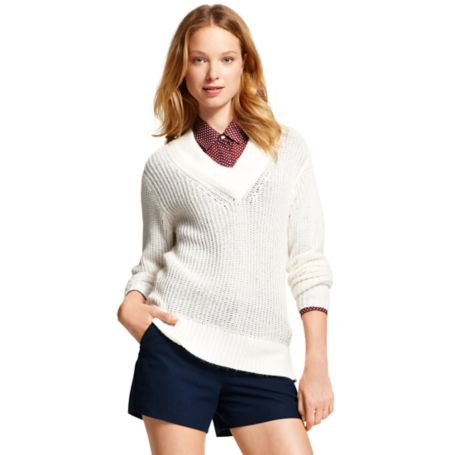 Image for OPEN KNIT SIDE ZIPPER SWEATER from Tommy Hilfiger USA