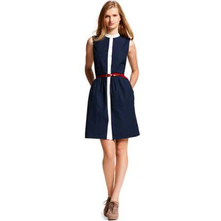 Image for TWO TONED SLEEVELESS SHIRT DRESS from Tommy Hilfiger USA