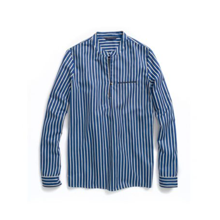 Image for STRIPED PIPED BLOUSE from Tommy Hilfiger USA