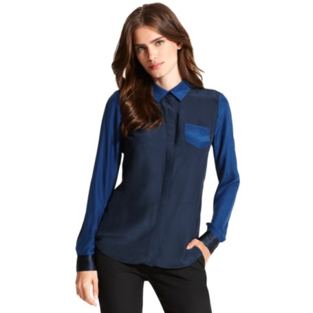 Image for COLORBLOCK SOFT BLOUSE from Tommy Hilfiger USA