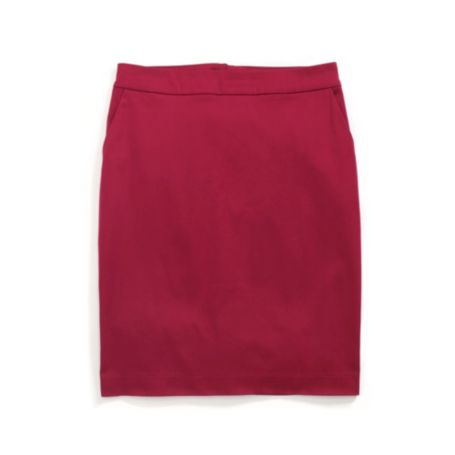 Image for SOLID SATEEN SKIRT from Tommy Hilfiger USA
