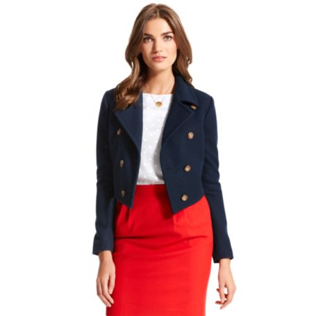 Image for CROPPED SOLID PEACOAT from Tommy Hilfiger USA