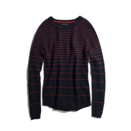 Image for STRIPE 3/4 SLEEVE SWEATER from Tommy Hilfiger USA