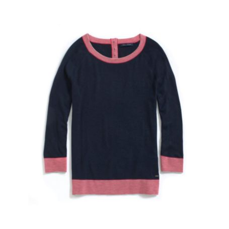 Image for LONG SLEEVE SOLID SWEATER from Tommy Hilfiger USA