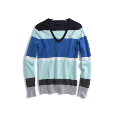 Image for SOLID MULTI STRIPE LONG SLEEVE SWEATER from Tommy Hilfiger USA