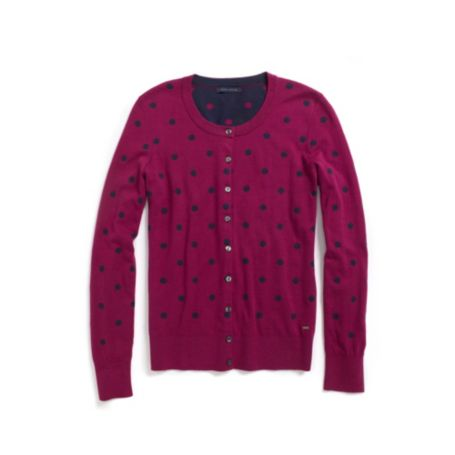 Image for INTARSIA DOT CARDIIGAN from Tommy Hilfiger USA