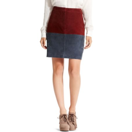Image for COLORBLOCK SUEDE SKIRT from Tommy Hilfiger USA