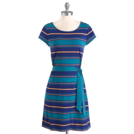 Image for SHORT SLEEVE KNIT DRESS WITH SELF TIE from Tommy Hilfiger USA