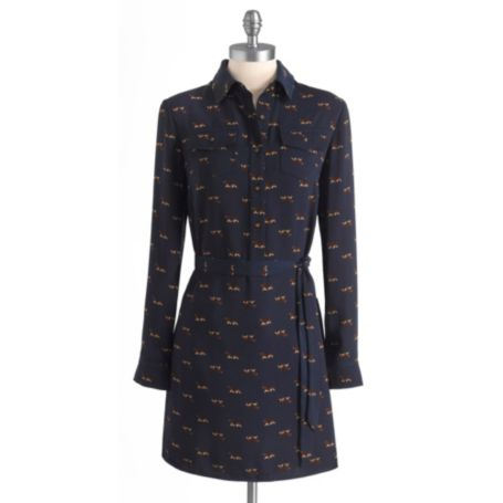 Image for LONG SLEEVE DOG PRINTED SHIRT DRESS from Tommy Hilfiger USA